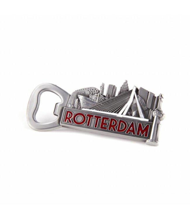 12 stuks opener magneet Rotterdam tin