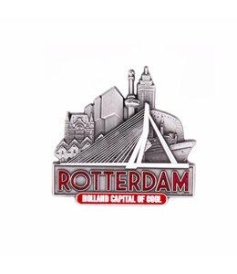 12 stuks magneet Erasmus brug Rotterdam tin