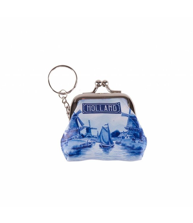 12 stuks SH portemonnee klein Holland delftsblauw