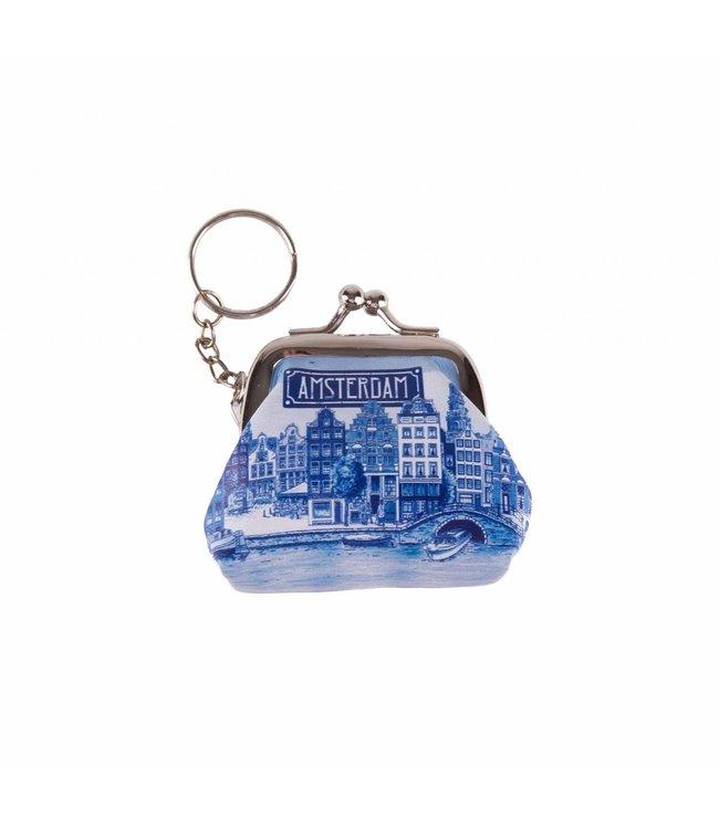 12 stuks SH portemonnee klein Amsterdam delftsblauw