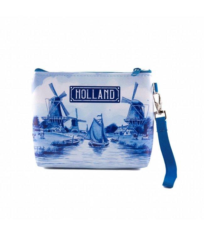 6 stuks portemonnee/tasje Holland delftsblauw
