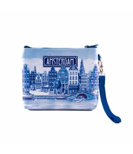 6 stuks portemonnee/tasje Amsterdam delftsblauw