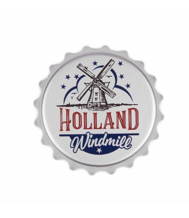 12 stuks opener PVC magneet molen Holland