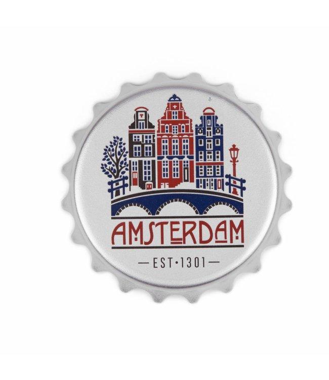12 stuks opener PVC magneet huisjes Amsterdam