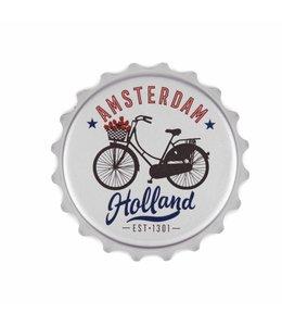 12 stuks opener PVC magneet fiets Amsterdam