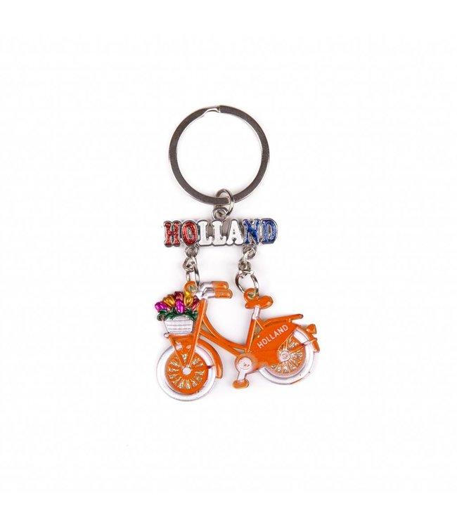 12 stuks SH fiets oranje hangend Holland glitter