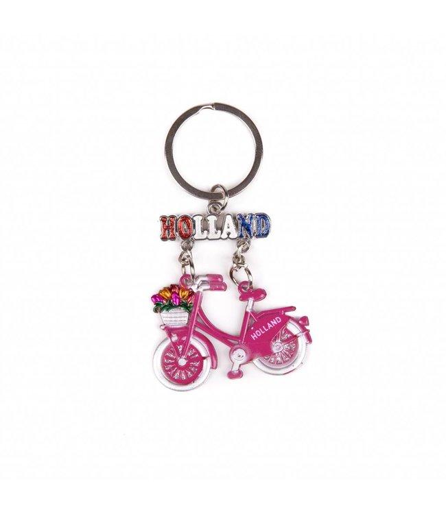 12 stuks SH fiets roze hangend Amsterdam glitter