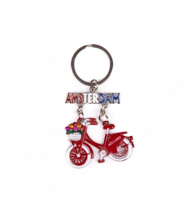 12 stuks SH fiets rood hangend Amsterdam glitter