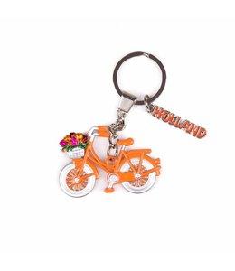 12 stuks SH fiets oranje met bedel Holland