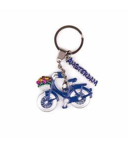 12 stuks SH fiets blauw met bedel Amsterdam