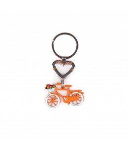 12 stuks SH hart met fiets oranje Holland