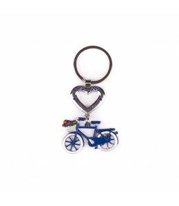 12 stuks SH hart met fiets blauw Holland