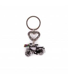 12 stuks SH hart met fiets zwart Amsterdam