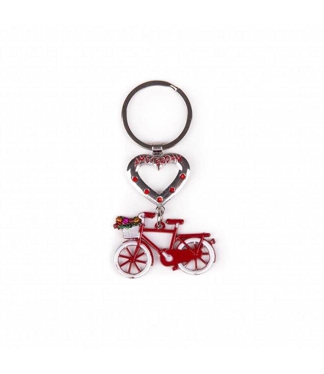 12 stuks SH hart met fiets rood Amsterdam
