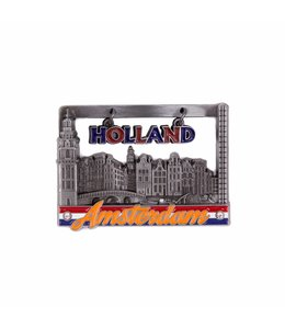 12 stuks magneet raam huisjes Amsterdam tin