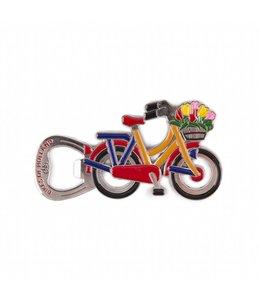 12 stuks opener magneet fiets Holland blauw/oranje/rood