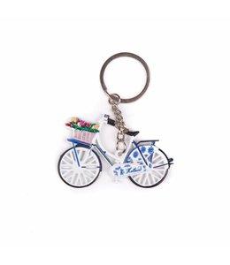 12 stuks SH fiets met tulpen delftsblauw Holland