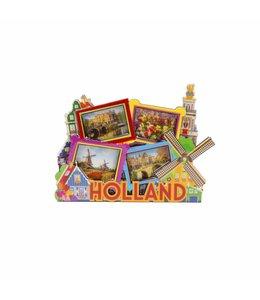 12 stuks magneet MDF Holland foto's