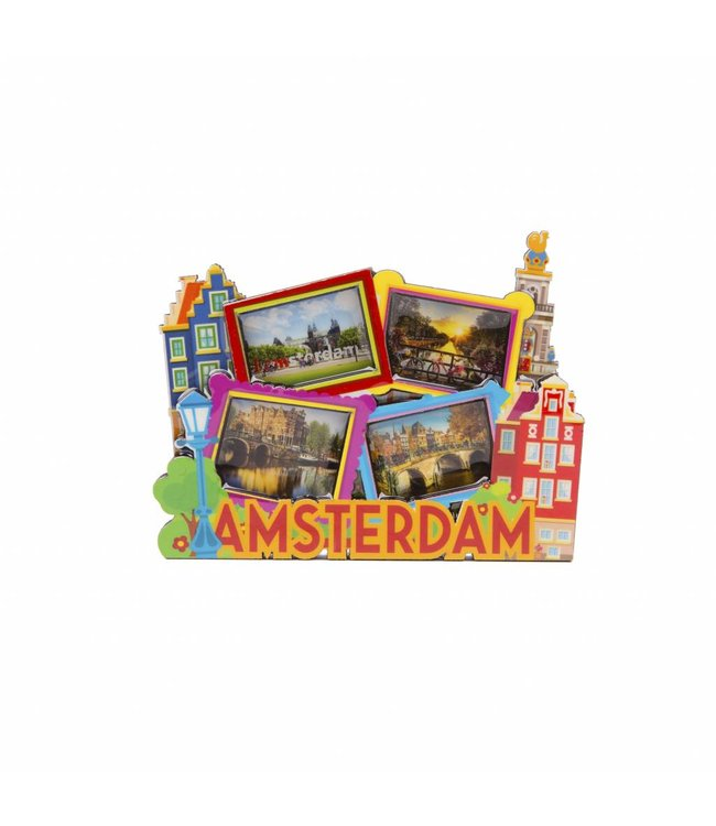 12 stuks magneet MDF Amsterdam foto's