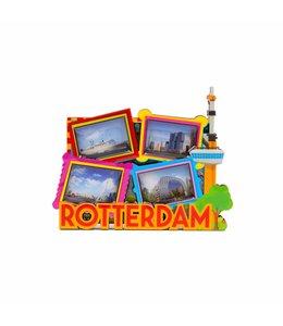 12 stuks magneet MDF Rotterdam foto's