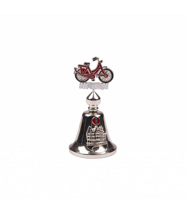 Tafelbel kleur fiets Amsterdam shiny zilver