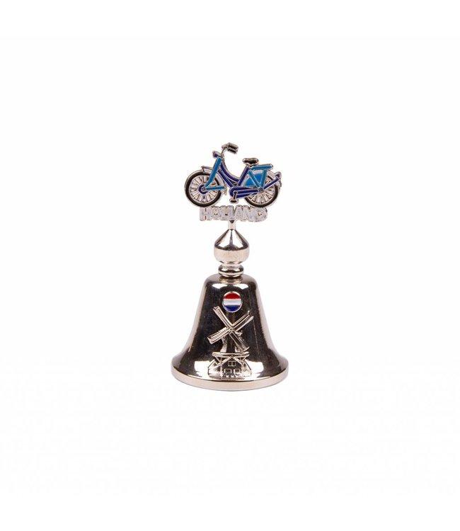 Tafelbel kleur fiets Holland shiny zilver
