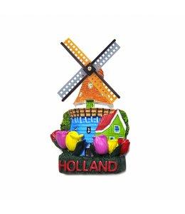 12 stuks magneet polystone molen & tulpen Holland