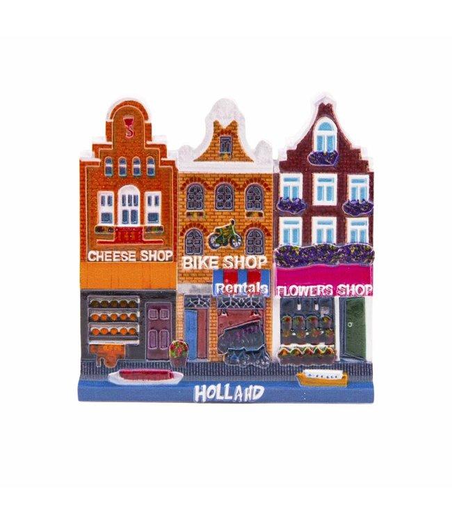 12 stuks magneet Cheese/Bike/Flowers Holland