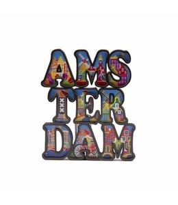 12 stuks magneet MDF letters Amsterdam