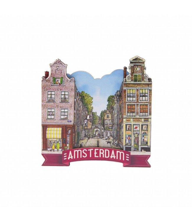 12 stuks magneet MDF steeg Amsterdam