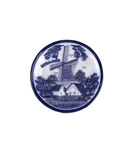 Bord 15 cm delftsblauw Holland molen en tulpen