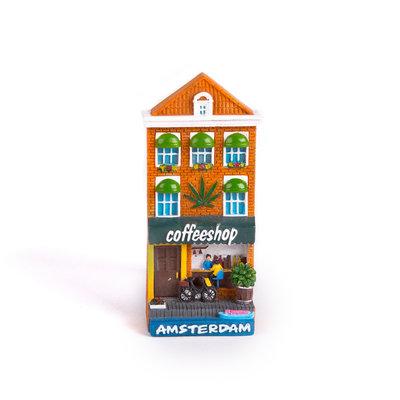 Magneten Polystone Huisjes 8 cm