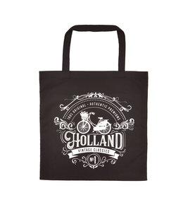6 stuks tas katoen Holland zwart classic
