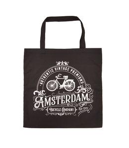 6 stuks tas katoen Amsterdam zwart classic