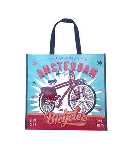 12 stuks shopper Amsterdam vintage fiets