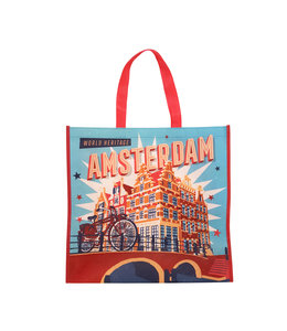 12 stuks shopper Amsterdam vintage grachtenhuisjes