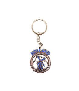 12 stuks sleutelhanger mono spinning Holland molen blauw