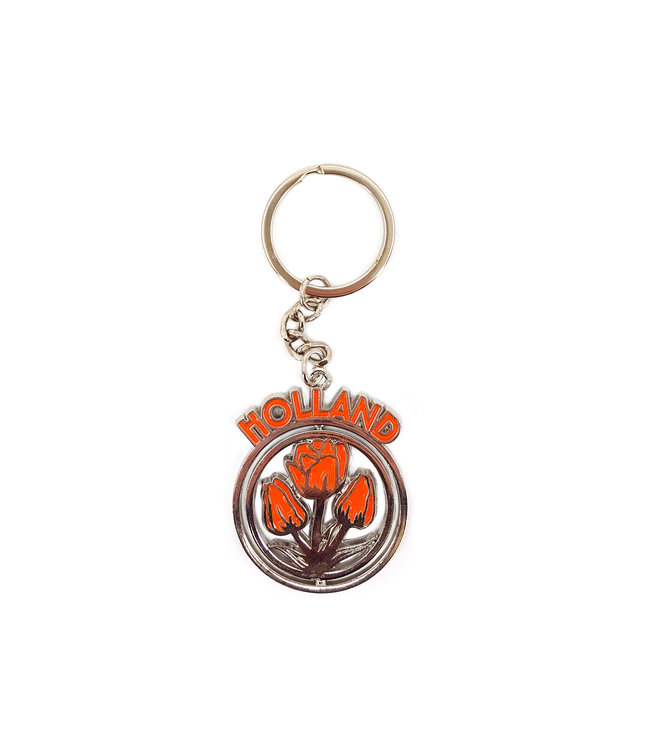 12 stuks sleutelhanger mono spinning Holland tulpen oranje