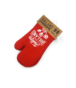 Oven handschoen rood Holland 2 stuks