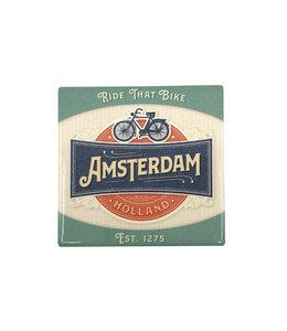 12 stuks tegelcoaster Amsterdam ride that bike