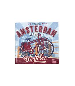 12 stuks tegelcoaster Amsterdam Bicycles Bridge