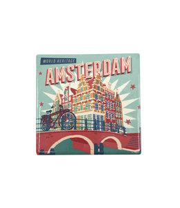 12 stuks tegelcoaster Amsterdam Canals