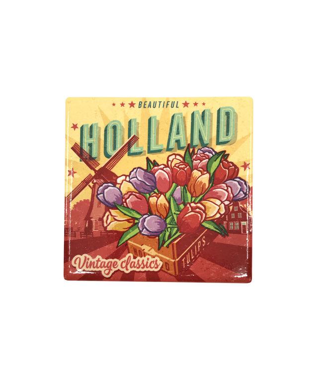 12 stuks tegelcoaster Holland tulpen