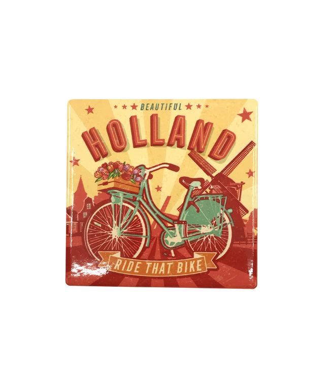 12 stuks coaster Holland fiets en molen