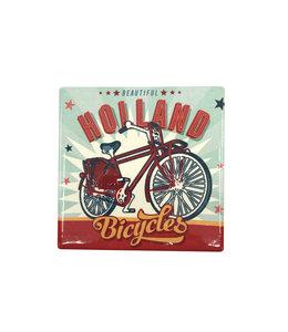 12 stuks tegelcoaster Holland bicycles