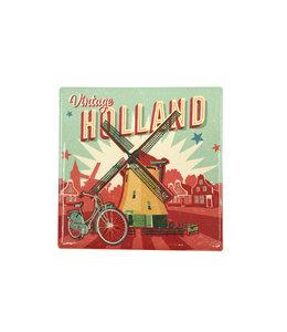 12 stuks tegelcoaster Holland windmolen