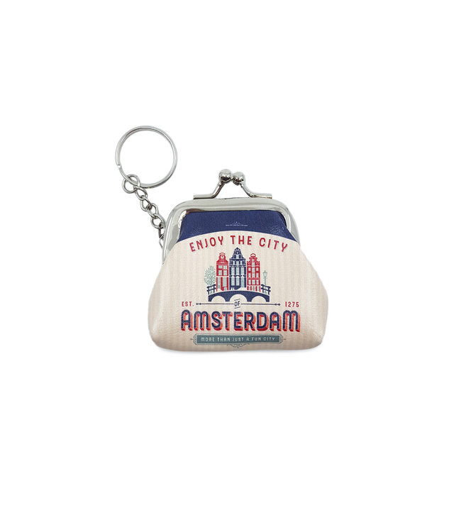 12 stuks sleutelhanger portemonnee klein Amsterdam huisjes
