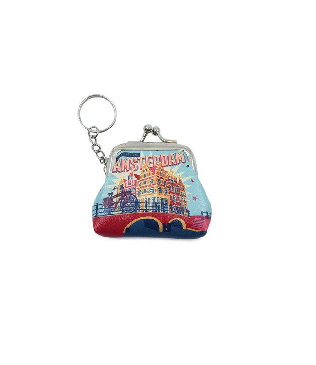 12 stuks sleutelhanger portemonnee klein Amsterdam Papeneiland
