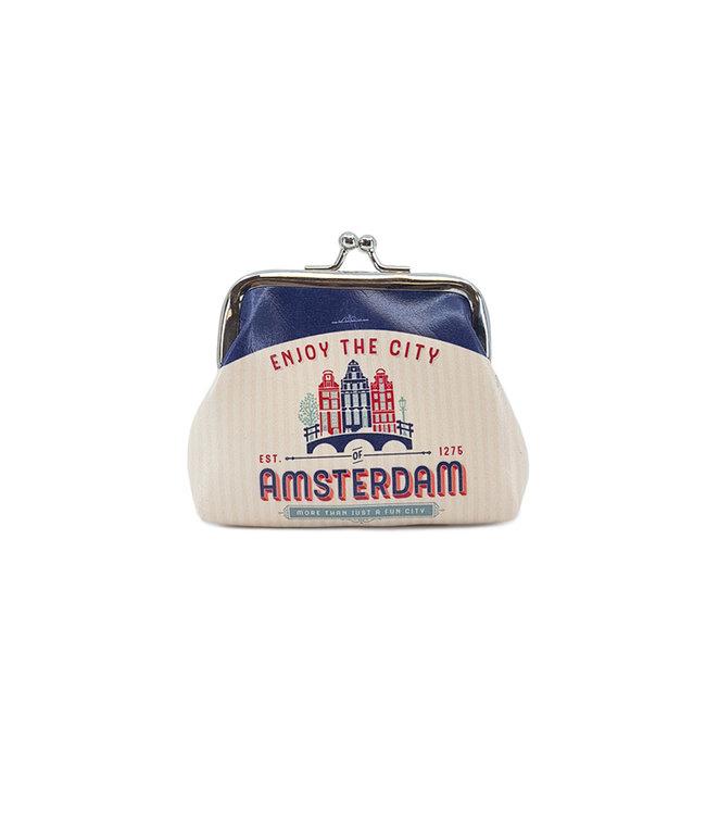 12 stuks portemonnee klein Amsterdam huisjes