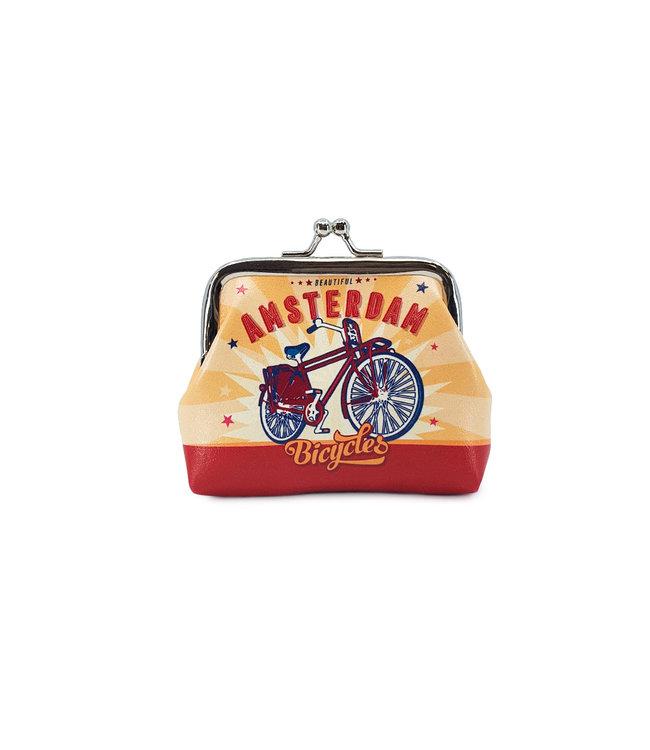 12 stuks portemonnee klein Amsterdam fiets